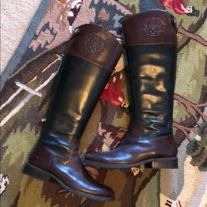 Vince Camuto Black/Burgundy Tall Boot